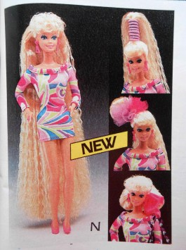 """""""Totally Hair Barbie"""" boasted """"The longest Barbie hair ever--10 1/2""""."""" This was another favourite growing up. Now, as a 30-year-old woman, I can confidently admit that I would probably wear a real-life version of that fabulous dress..."""