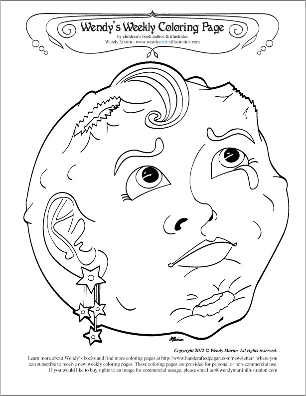 are you blue full moon coloring page