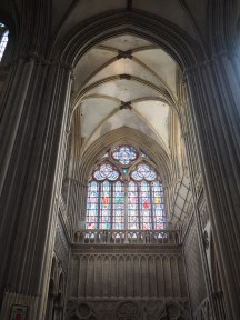 Notre-Dame Cathedral Bayeax stained glass altar