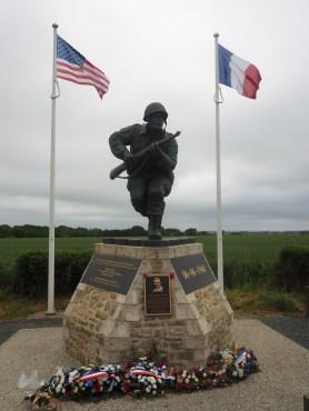 Military monument Richard Winters St Marie Du Mont France