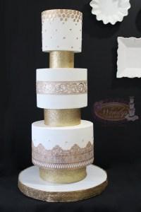 Three tiers wedding cake