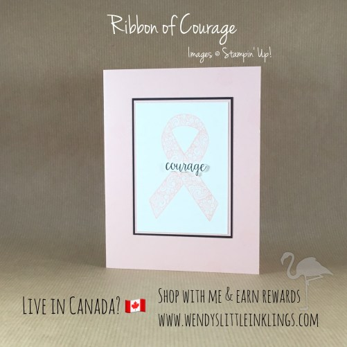 Wendy's Little Inklings:  Simple Ribbon of Courage Card