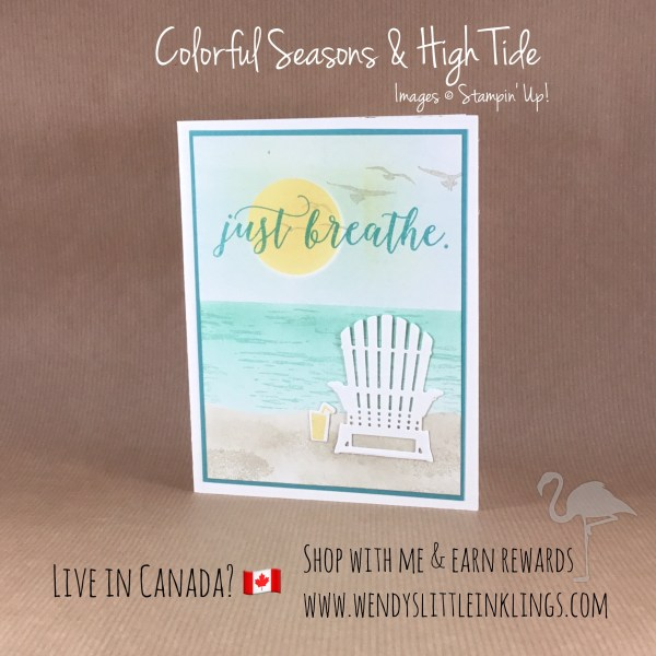 Wendy's Little Inklings: Refreshing and cool Colorful Seasons Card