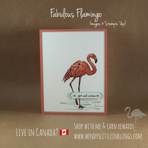 Wendy's Little Inklings: Fabulous Flamingo, Get Well Card
