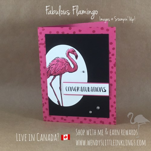 Wendy's Little Inklings: Fabulous Flamingo Congratulations