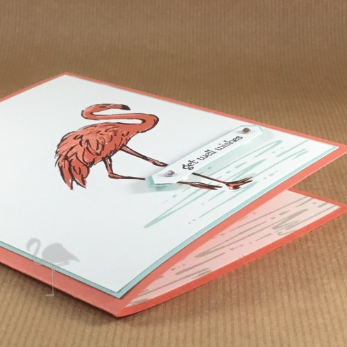 Wendy's Little Inklings: Fabulous Flamingo Get Well Wishes