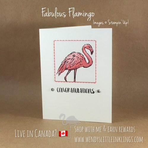 Wendy's Little Inklings: Fabulous Flamingo Congratulations