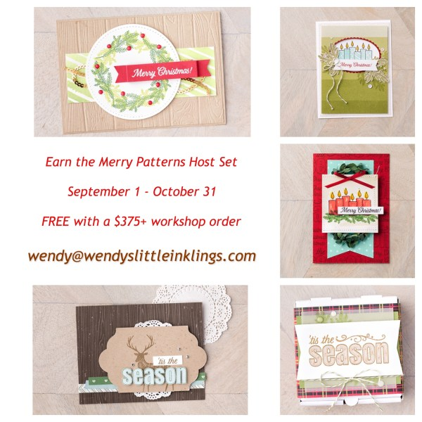Wendy's Little Inklings: Merry Patterns Sample Cards
