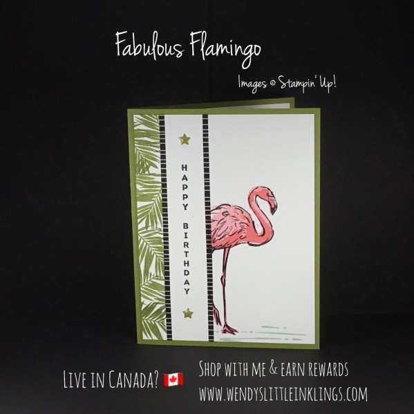 Wendy's Little Inklings: Fabulous Flamingo Vertical Birthday Card