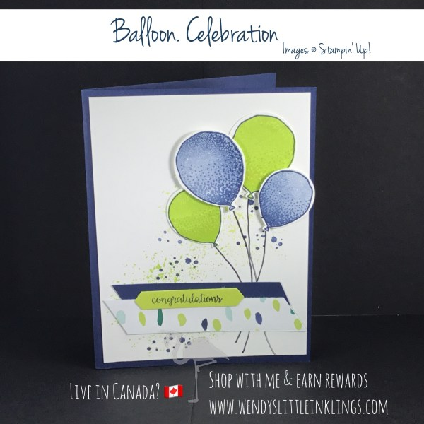 Wendy's Little Inklings: Congratulatory Navy and Lime Balloons