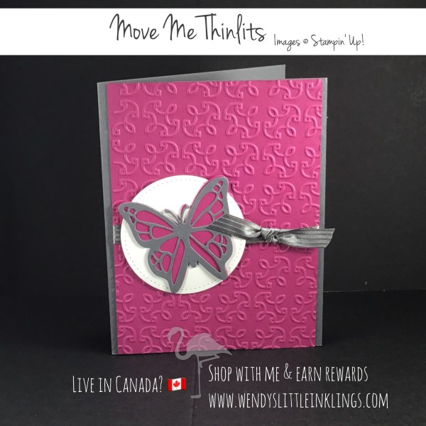 Wendy's Little Inklings: Easy Butterfly Card with Move Me Thinlits