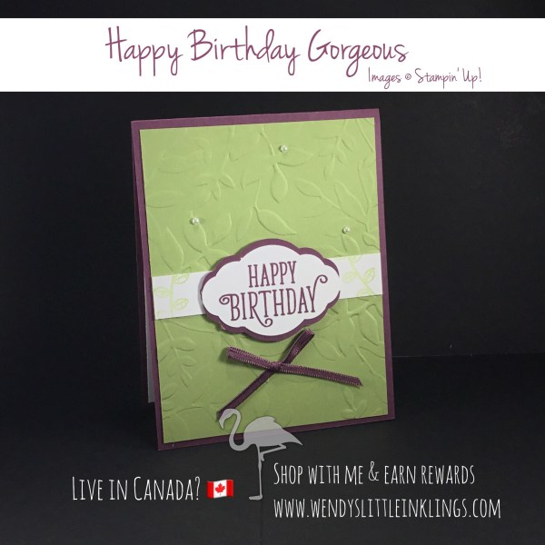 Wendy's Little Inklings: Happy Birthday Gorgeous AND Hearts Come Home