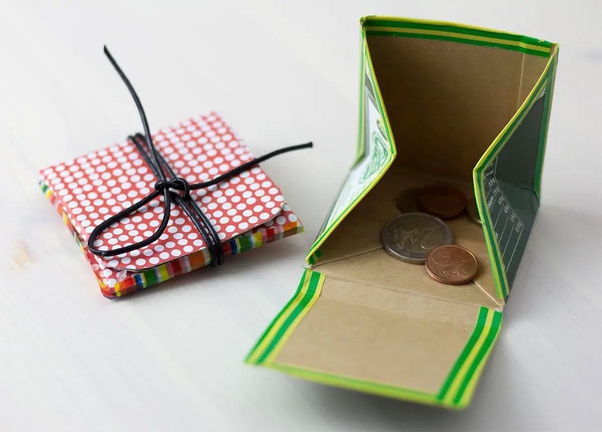 So Geht Das Geldbeutel Aus Tetra Pak Ganz Einfach Selbst
