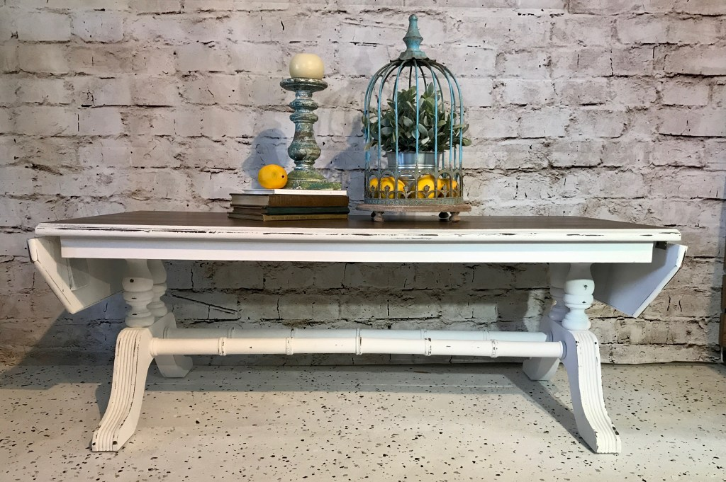 Stained vintage coffee table