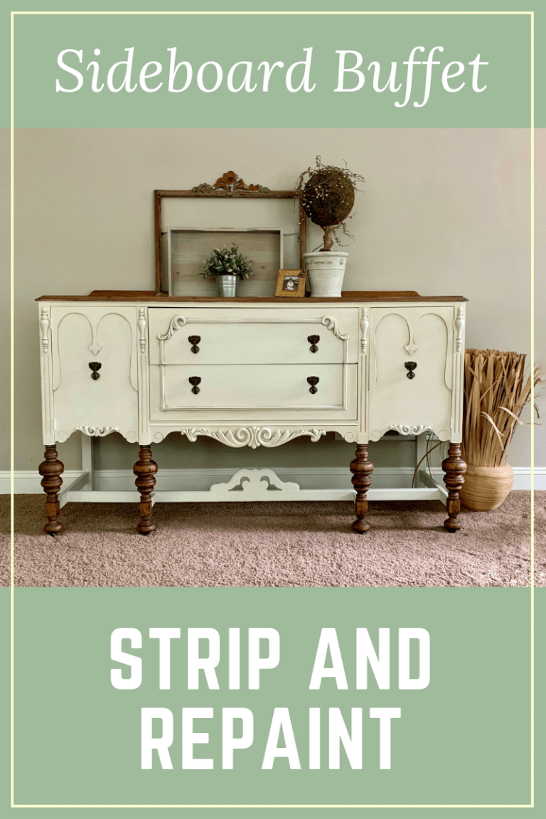 Stripped and repainted Sideboard Buffet