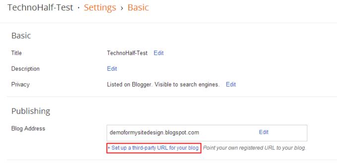 .tk domain setup on blogger