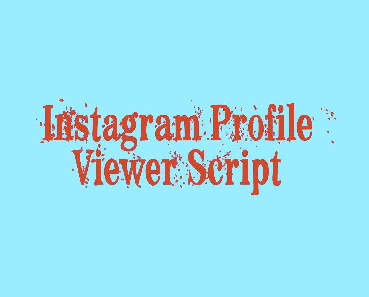 List of Instagram Web Viewer Script | How to Check Profile