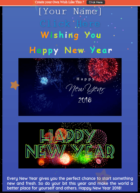 happy new year php script