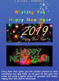 happy new year wish script