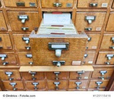 vintage archive wooden drawers closeup
