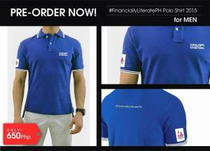 ‪#‎FinanciallyLiteratePH‬ polo shirt_men_blue