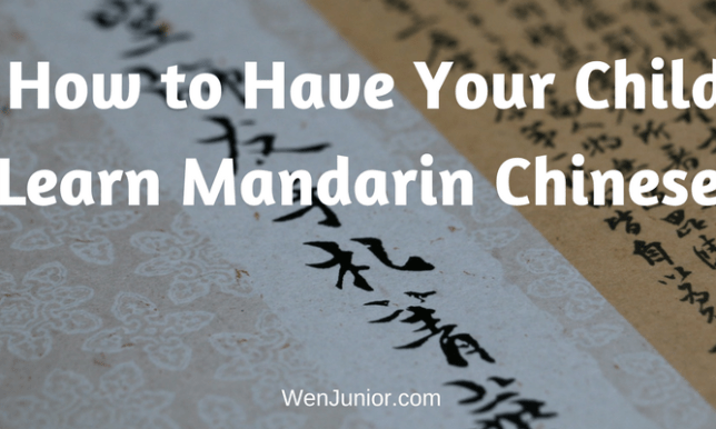 How to Have Your Child Learn Mandarin Chinese (1)