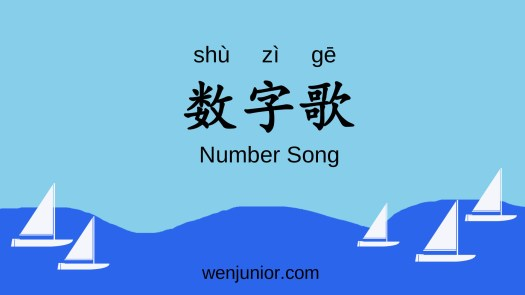 Another Song to Learn Numbers in Mandarin Chinese – WenJunior
