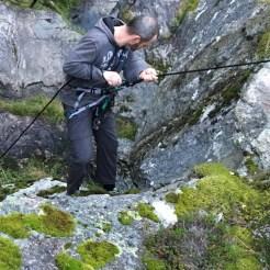 Kletterpatie in der Klamm.