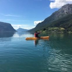 Paddeln auf dem Lusterfjord.