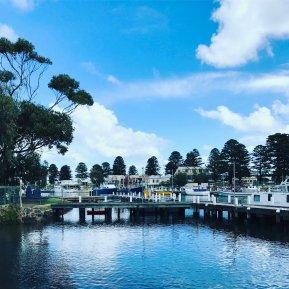 Gemütlicher Hafen in Australien