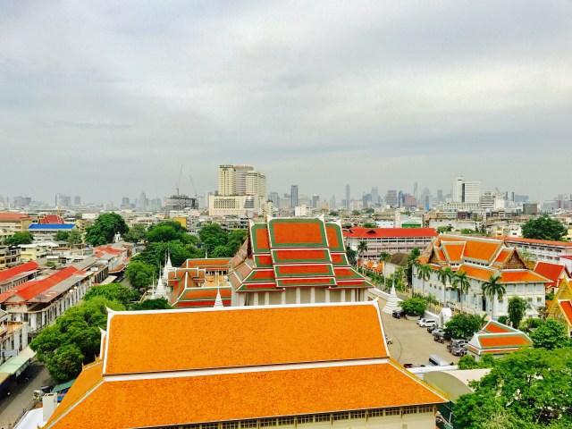 Blick über Bangkoks Altstadt