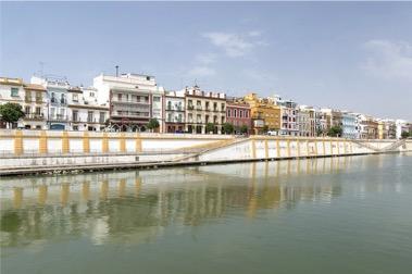 Fluss Guadalquivir in Sevilla