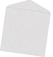 Zilveren wenskaart enveloppen