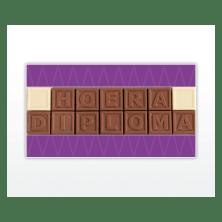 chocolade letters kaartje