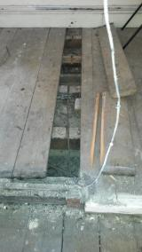 The floor step, with floor boards remove to show state of joists