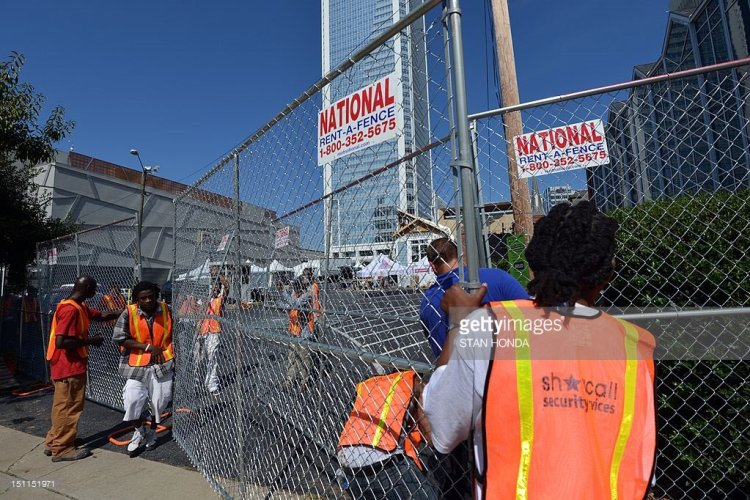 Fence at DNC