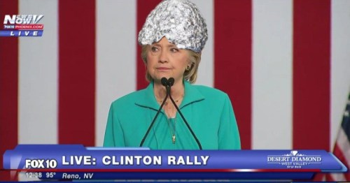 Hillary Clinton off on one of her conspiracy theories