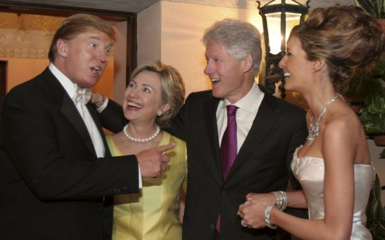 Hillary at Trump's wedding in 2005