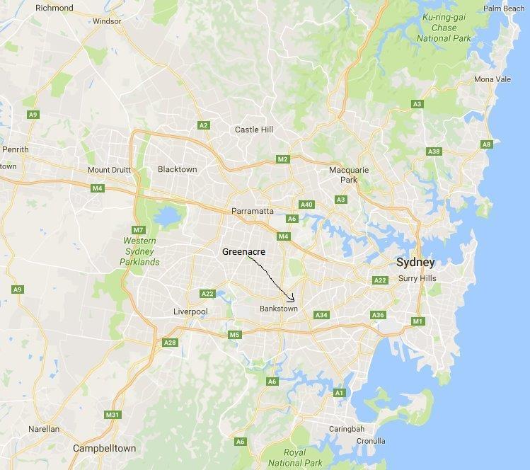 Greenacre is not close ot the Sydney CBD