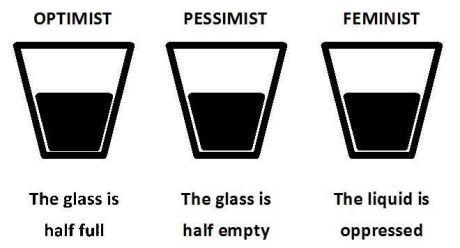 feminism and glass half full