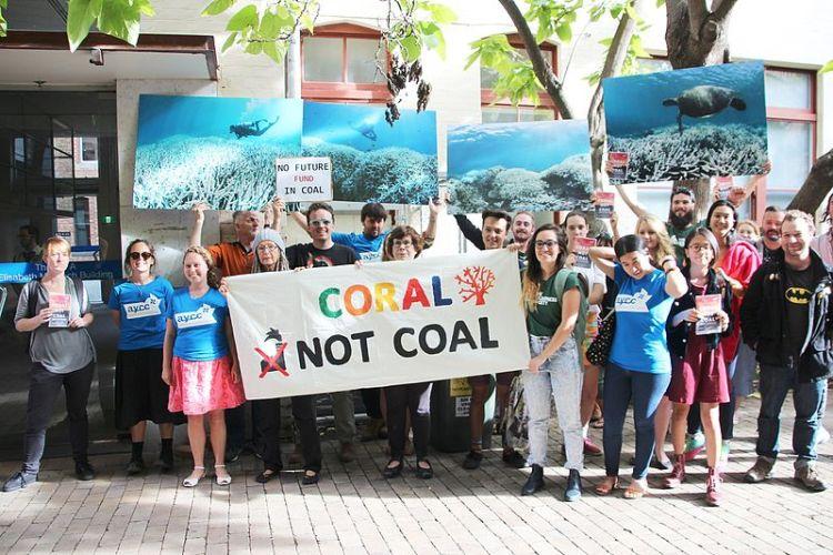 Protest againt Adani's Carmichael Coal mine in Queesland