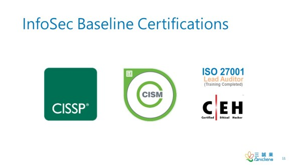 InfoSec Baseline Certifications