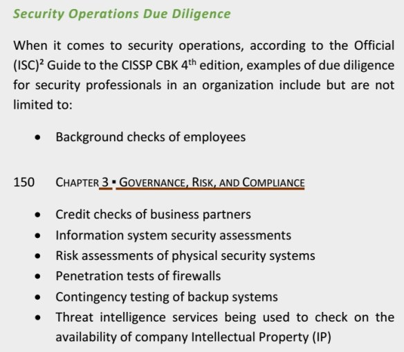 Due Diligence in CBK4