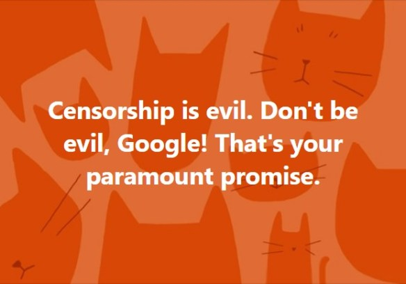 Don't be evil, Google!