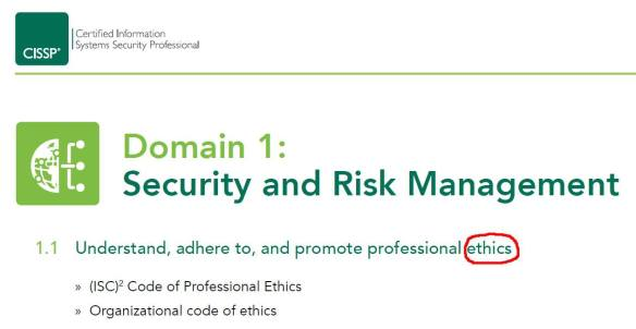 Ethics Tops The New CISSP Exam Outline