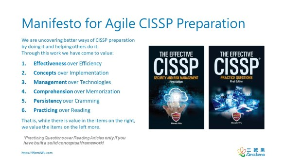 Manifesto for Agile CISSP Preparation