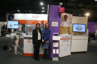 with Sanofi's Corinne Monteil. Connecting Nurses and Millennia2025Foundation has been at Medetel for 3yrs now !