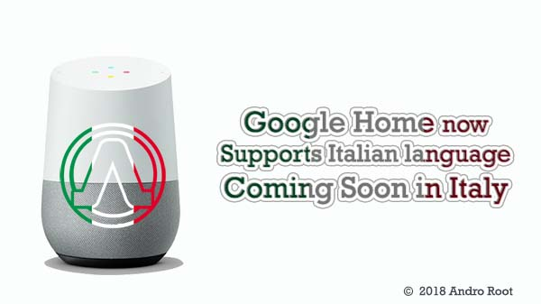 launch of Google Home in Italy