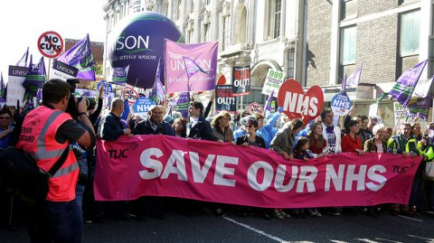 Photo of demonstration to save NHS