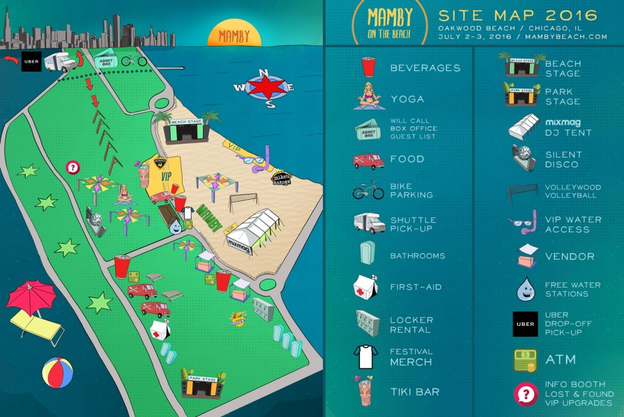 We Own The Nite NYC_Mamby on The Beach 2016_Site Map